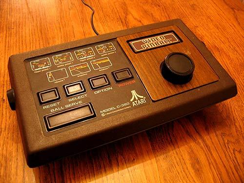 funky old Atari consol...